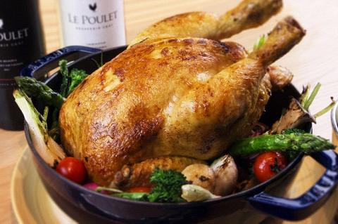 ロティサリーチキンをメインにしたブラッスリー「Le Poulet Brasserie Ukai」