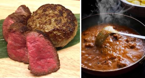 """""""肉屋のまかないカレー""""肉屋ならではの肉かの旨みが存分に堪能できる、ふんだんに肉を使用したこちらのカレーは〆におすすめ。"""