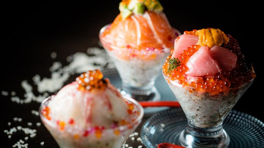 特別価格で味わえる「パフェみたいな海鮮丼」が『酒蔵 ゴエモン』中野店・板橋店・東長崎店に登場